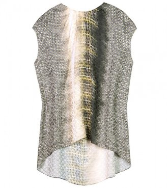 Peter Pilotto SILK NAT TOP WITH CHAIN-LINK PRINT