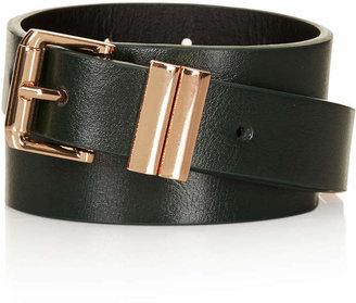 Topshop Clean Metal Double Keeper Belt