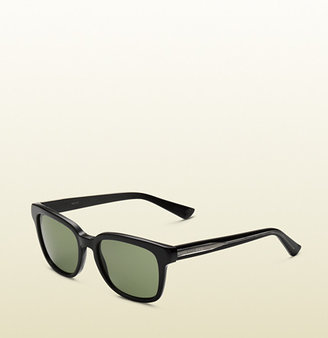 Gucci Black Square Vintage Style Sunglasses