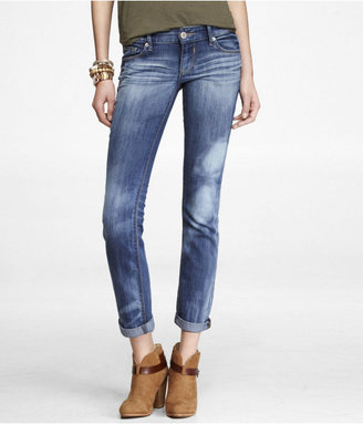 Express Rolled Distressed Ankle Skinny Leg Jean