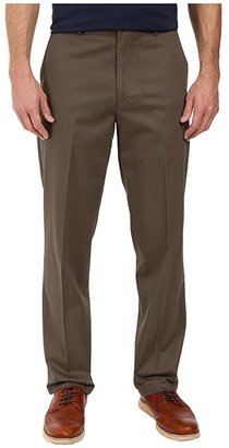 Dockers Signature Khaki D3 Classic Fit Flat Front (Burma Grey Stretch) Men's Casual Pants