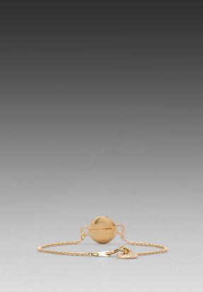 Marc by Marc Jacobs Classic Marc Enamel Discs Bracelet in Blaze Red/Oro