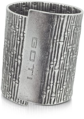 Goti Large Textured Tin Cuff Bracelet