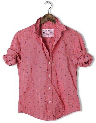 FRANK & EILEEN Barry Checker And Anchor Shirt