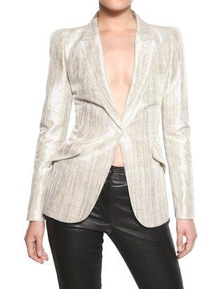 Alexander McQueen Lurex Silk Lamè Jacket