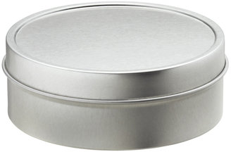 Container Store 4 oz. Shallow Seamless Tin Silver