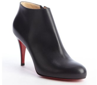 Christian Louboutin black leather 'Belle 85' ankle zip booties