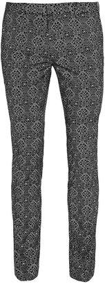 Topman Black And White Printed Ultra Skinny Dress Pants