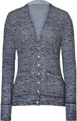 Steffen Schraut Navy Sea Stripe Print Cardigan
