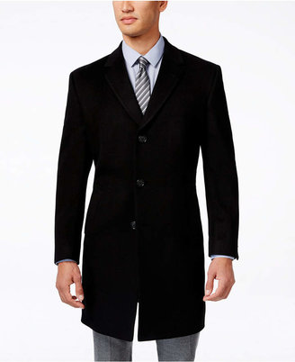 Kenneth Cole Reaction Raburn Wool-Blend Over Coat Slim-Fit $350 thestylecure.com