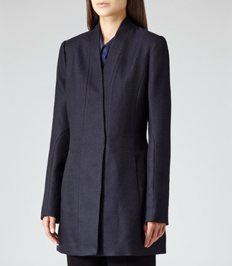 Reiss Delaney Textured TEXTURED FITTED COAT