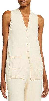 STAUD Jo Wool-Blend Vest w/ Pockets