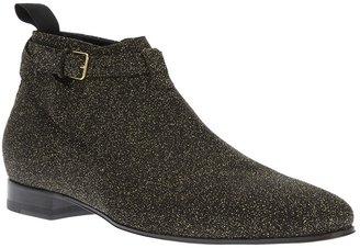 Saint Laurent gllitter jodhpur ankle boot