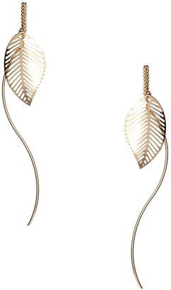 Asos Leaf Through Earrings
