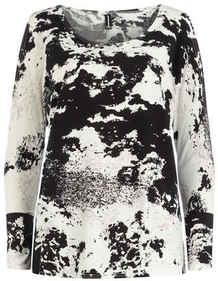 Dorothy Perkins Black/white print cut out top