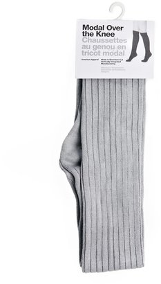 American Apparel Ribbed Modal Over The Knee Socks