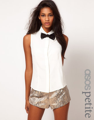 Asos Exclusive Shirt With Sequin Bow