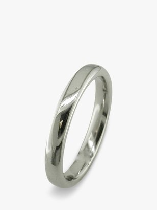E.W Adams 18ct White Gold 3mm Court Wedding Ring