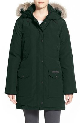 Women's Canada Goose 'Trillium' Regular Fit Down Parka With Genuine Coyote Fur Trim $895 thestylecure.com