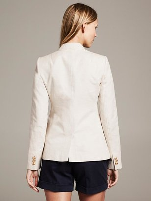 Banana Republic Linen/Cotton Two-Button Blazer