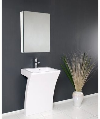 "Fresca Quadro 23"" Single Bathroom Vanity Set with Mirror"