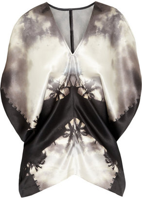 Zero Maria Cornejo Tuni printed silk-satin top