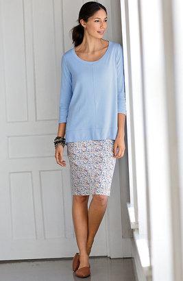 J. Jill Live-in chino print skirt