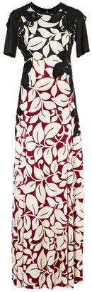 Marc Jacobs Burgundy Breadfruit Silk Jersey Long T-Shirt Dress
