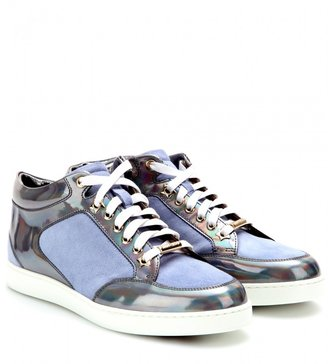 Jimmy Choo Miami leather and suede sneakers