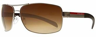 Prada Linea Rossa PS541S Aviator Sunglasses, Brown
