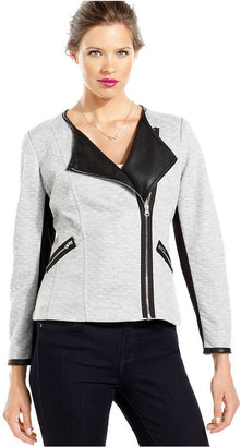 KUT from the Kloth Jacket, Long-Sleeve Quilted Faux-Leather Moto