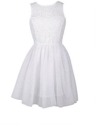 Delia's Crochet White Dress