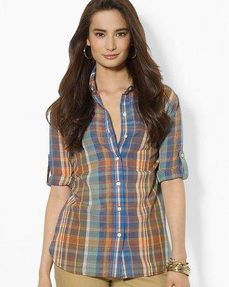 Lauren Ralph Lauren Plaid Cotton Workshirt