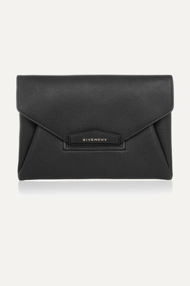 Givenchy - Antigona Envelope Clutch In Black Grained Leather $1,395 thestylecure.com