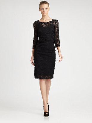 Dolce & Gabbana Lace-Covered Satin Platform Pumps
