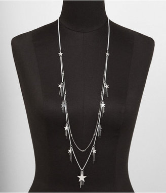 Express Nested Star And Chain Fringe Necklace