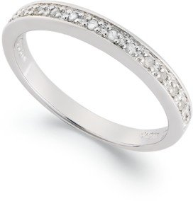 Macy's Diamond Band Ring in Sterling Silver (1/10 ct. t.w.)
