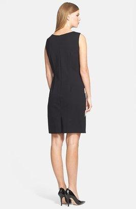 Tahari Sunburst Ponte Knit Sheath Dress