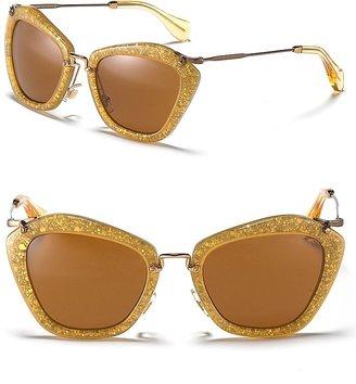 Miu Miu Catwalk Sunglasses with Thin Temple