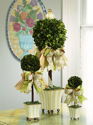 Mackenzie Childs MacKenzie-Childs Parchment Stripe Spring Topiary