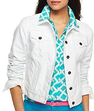 JCPenney jcpTM Color Denim Jacket