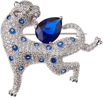 Kenneth Jay Lane CZ by CZ Panther Brooch