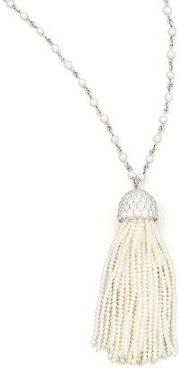 """Ivanka Trump Seed Pearl Tassel Necklace, 36"""""""