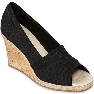 JCPenney St. John's Bay® Wave Canvas Wedge Pumps