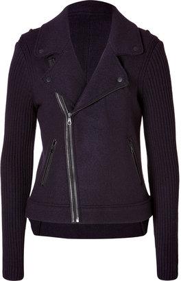 Rag and Bone Rag & Bone Wool Jenna Moto Jacket in Eggplant
