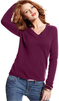Charter Club Sweater, Long-Sleeve V-Neck Cashmere