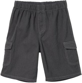 City Threads Soft Twill Cargo Short w/ Navy Stitch - Dark Khaki-3 - 6 Months