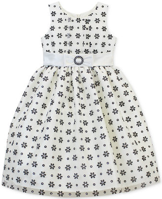 Jayne Copeland Girls' Daisy-Print Dress