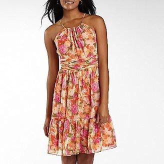 JCPenney Nine & Co.® Floral Print Halter Dress