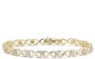 FINE JEWELRY 1/10 CT. T.W. Diamond 14K Gold over Sterling Silver Bracelet $208.32 thestylecure.com